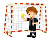 Cartoon child referee — Stock Photo