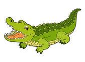 Karikatür timsah — Stok fotoğraf