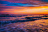 Waves at sunset, Cape May, New Jersey. — Stock Photo