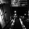 Stock Photo: Escalator in the Powerplant, Baltimore, Maryland.