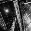 Stock Photo: Looking up at interesting architecture in the Powerplant, Baltim