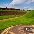 Stock Photo: Summer storm clouds over Fort McHenry, Baltimore, Maryland