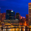 View of Baltimore Inner Harbor and skyline during twilight f — Stock Photo #27063021