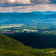 View of the Shenandoah Valley and Appalachian Mountains from the — Stock Photo