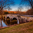 Burnside Bridge, at Antietam National Battlefield, Maryland. — Stock Photo