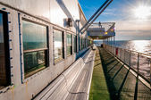 Aboard the Cape May -Lewes Ferry, in the Delaware Bay between Ne — Stock Photo