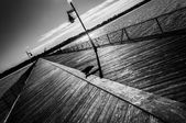 Fishing pier at Cape Henlopen State Park, Delaware — Stockfoto