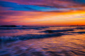 Waves at sunset, Cape May, New Jersey. — Stockfoto