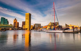 Evening light on the Inner Harbor, Baltimore, Maryland — Stock Photo