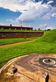 Summer storm clouds over Fort McHenry, Baltimore, Maryland — Stock Photo