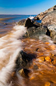 Waves on the Chesapeake Bay at Elk Neck State Park, Maryland — Stock Photo