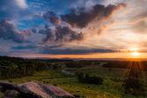 Penns ゲティスバーグでリトル ラウンド トップからカラフルな夏の日没 — ストック写真