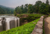 Morning view of Middle Falls, Letchworth State Park, New York. — Stock Photo