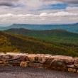 Overlook on Skyline Drive in Shenandoah National Park, Virginia. — Stock Photo