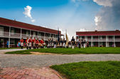 Reenactment on a summer day at Fort McHenry, Baltimore, Maryland — Stock Photo