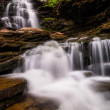 Stock Photo: Tall waterfall and cascades on Kitchen Creek in Ricketts Glen St