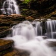 Tall waterfall and cascades on Kitchen Creek in Ricketts Glen St — Stock Photo