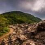 den appalachian trail, lite stenig mannen på klipporna vid i shenandoah — Stockfoto #27855797