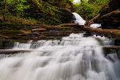 Looking up Huron Falls, in Glen Leigh, Ricketts Glen State Park, — Stock Photo