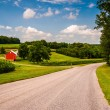 Farm along country road in Southern York County, PA.  — Stock Photo