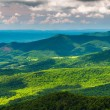 Clouds cast shadows over the Appalachian Mountains, seen from Sk — Stock Photo