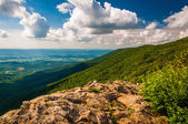 The Shenandoah Valley and Blue Ridge from Crescent Rock in Shena — Stock Photo