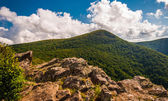 Cliffs and view of Hawksbill Mountain on Crescent Rock, in Shena — Stock Photo