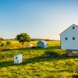 Barn on a farm in rural York County, Pennsylvania. — Stock Photo