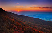 Autumn sunset over the Shenandoah Valley and Appalachian Mountai — Foto Stock