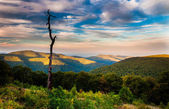 Evening view of the Appalachians from Thoroughfare Overlook, alo — Stock Photo
