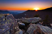 Sunset over the Appalachian Mountains and Shenandoah Valley from — Stock Photo