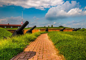 Cannons at Fort McHenry, Baltimore, Maryland. — Stock Photo