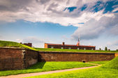Interesting clouds over Fort McHenry, in Baltimore, Maryland. — Stock Photo