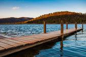 Small dock on Lake Arrowhead, near Luray, Virginia. — Stock Photo