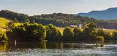 Farms and hills along the Shenandoah River, in the Shenandoah Va — Stockfoto