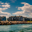 Waterfront condos and a jetty in Point Pleasant Beach, New Jerse — Stock Photo #30078239