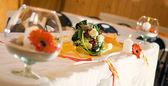 элегантный свадебный стол украшения — Стоковое фото