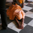 Devotee Prostrating — Stock Photo