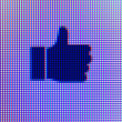 Thumbs Up Icon Computer Screen Macro — Stock Photo #31269329