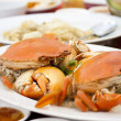 Steamed crabs — Stockfoto #27026587