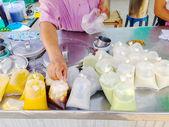Hot drinks stall — Stock Photo