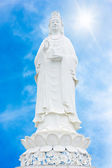 White marble guan yin — Stock Photo
