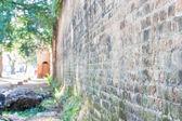 Gamla fängelse vägg, chieng rai, thailand — Stockfoto