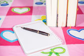 Pen book and notebook — Stock Photo