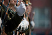 Soldiers row — Stock Photo