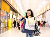 Girl in mall — Stock Photo