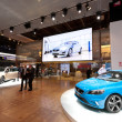 Stock Photo: Volvo Cars stand at Paris Motor Show 2012