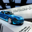 Stock Photo: Mercedes-Benz SLS AMG Full Electric Supercar