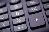 Numeric pad of a calculator, closeup — Stock Photo