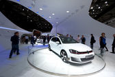Volkswagen Golf GTI at Paris Motor Show 2012 — Stock Photo